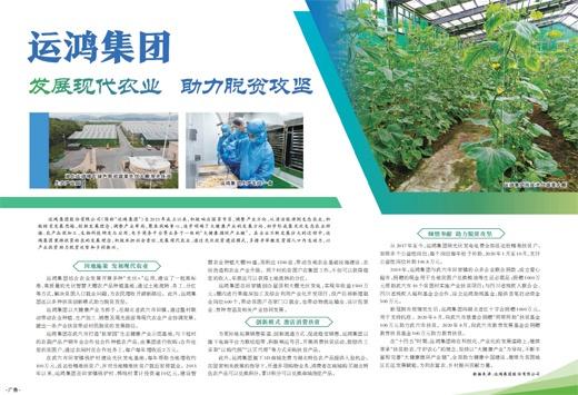 运鸿集团  发展现代农业  助力脱贫攻坚