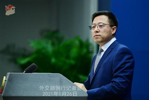 2021年1月26日外交部发言人赵立坚主持例行记者会图片