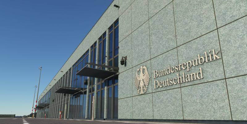 《微软飞行模拟》新一批截图:柏林勃兰登堡机场亮相