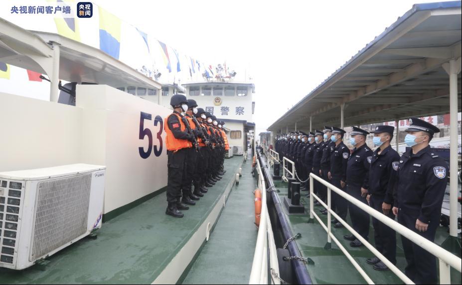 新起点!中老缅泰启动第101次湄公河联合巡逻执法行动图片