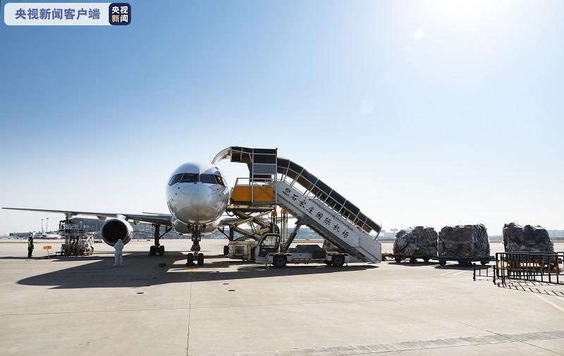 14.28吨货物落地 石家庄至杭州货运航线恢复!图片