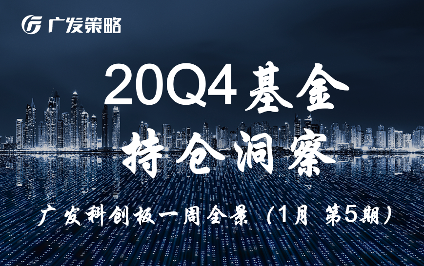 【广发策略|科创板】20Q4基金持仓洞察