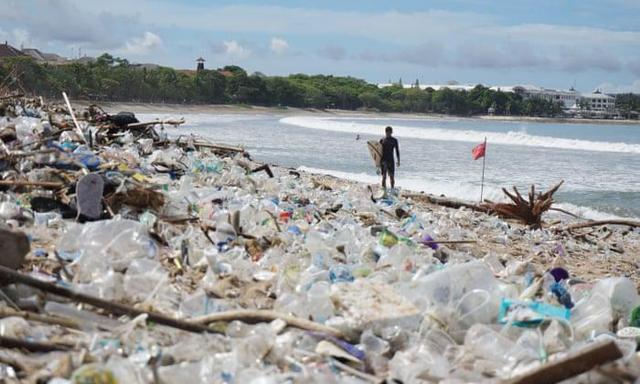 """度假""""天堂""""变""""地狱""""!塑料垃圾围堵巴厘岛海滩,两天清理90吨"""