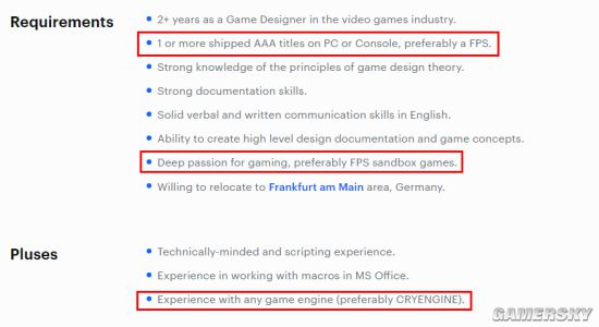 《孤岛危机》开发商Crytek正在筹备新3A 疑似为沙盒FPS