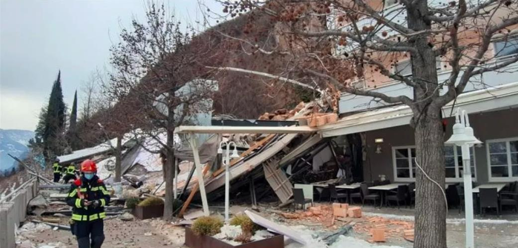 意大利博尔扎诺山体滑坡造成一酒店部分被毁 7人受伤