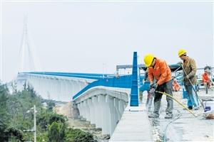 海文大桥北港岛 匝道本月底完工图片