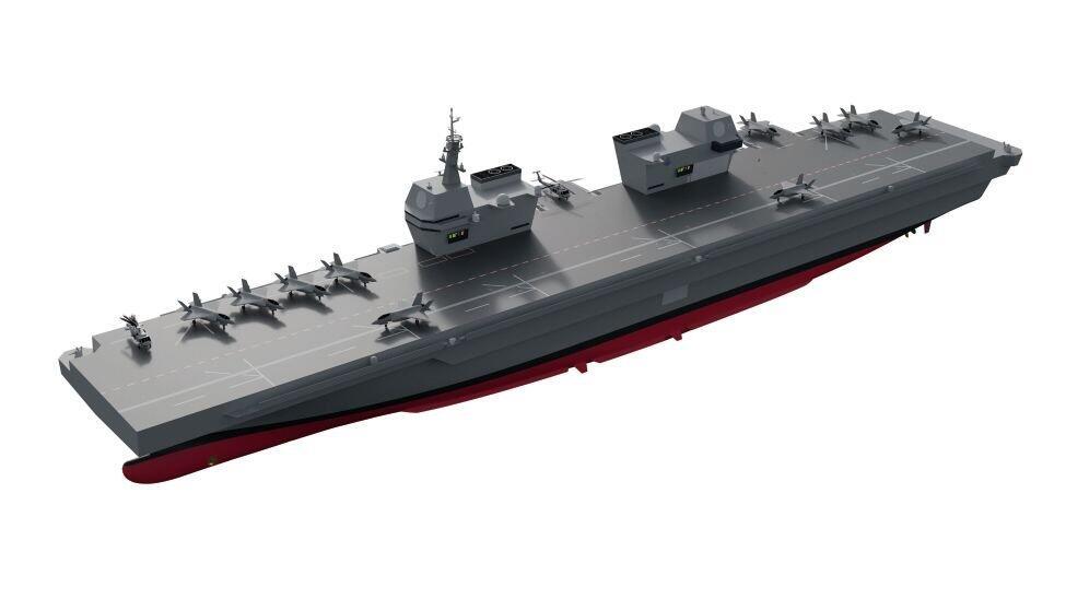 韩国轻型航母设计曝光:采用直通甲板,配备双舰岛