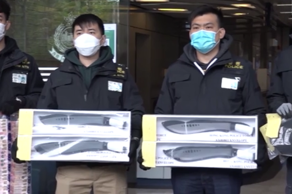 涉嫌谋杀、贩运危险药物及藏有攻击性武器 13人被香港警方拘捕图片