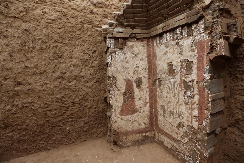 陕西考古发现大量罕见唐代壁画(图)图片