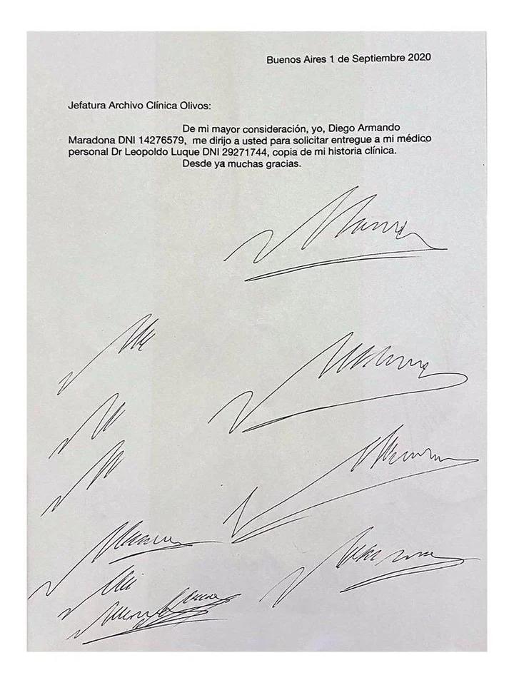 阿根廷警方:私人医生或曾伪造马拉多纳签名