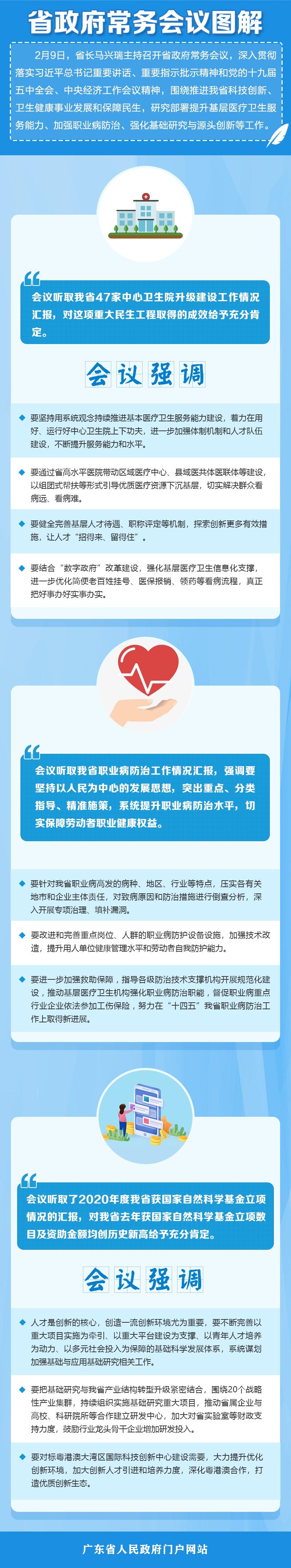 图解:马兴瑞主持召开省政府常务会议(2021年2月9日)图片