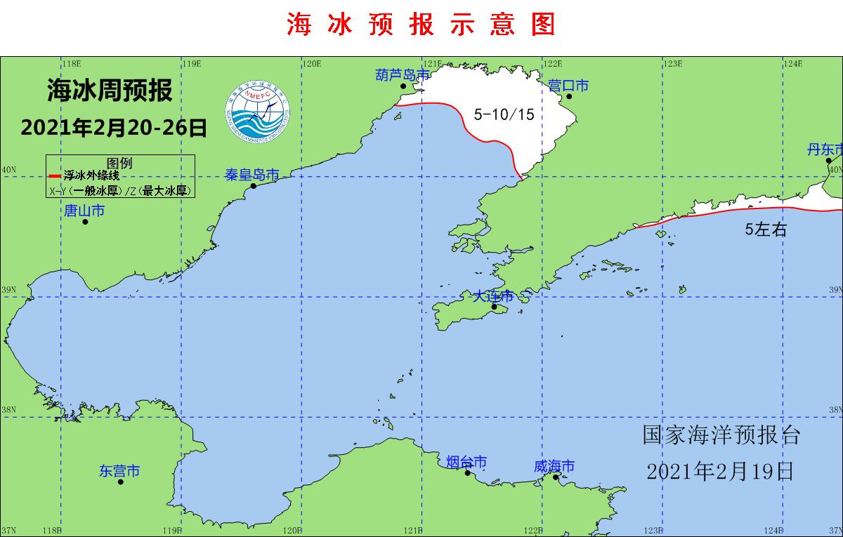 国家海洋预报台:渤海及黄海北部海冰冰情持续缓解图片