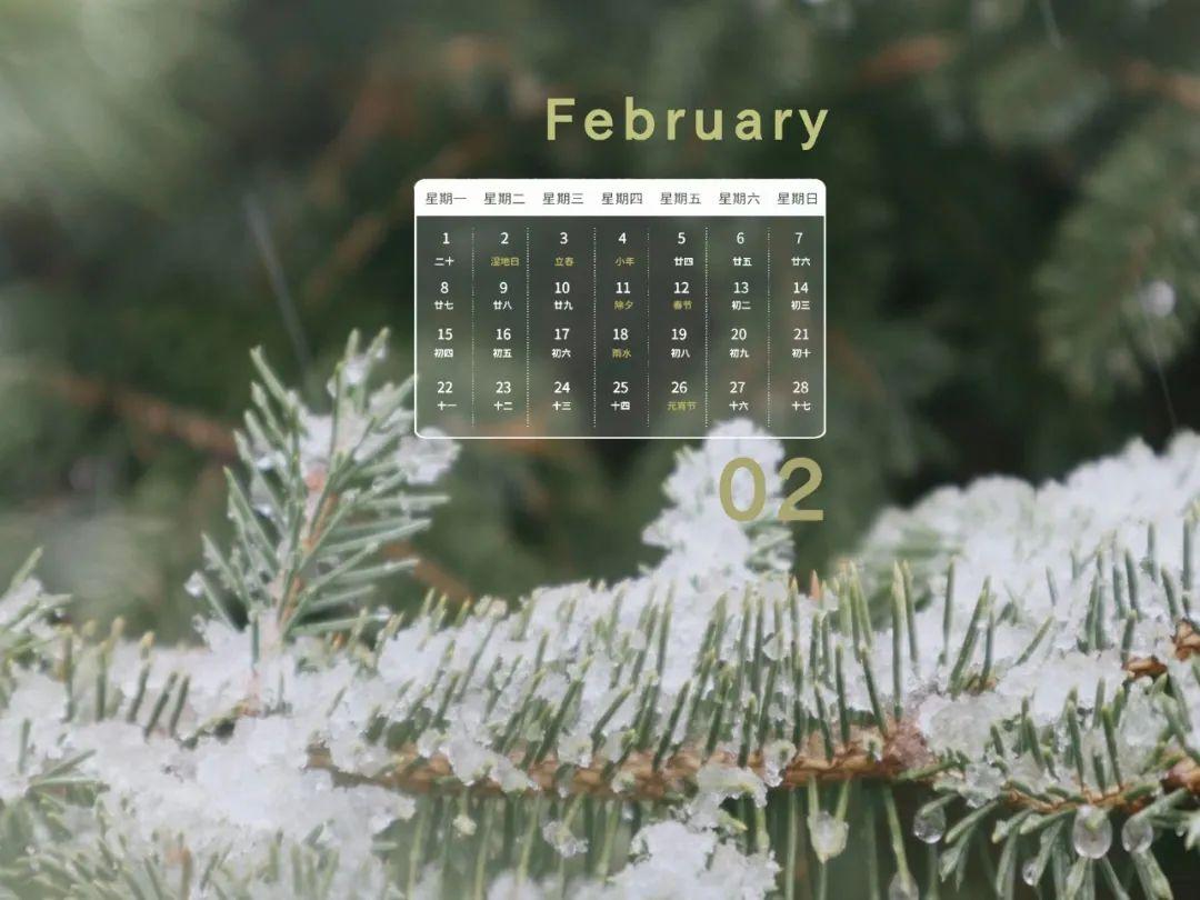 二月壁纸 | 迎接春的到来,书写新的起点!图片