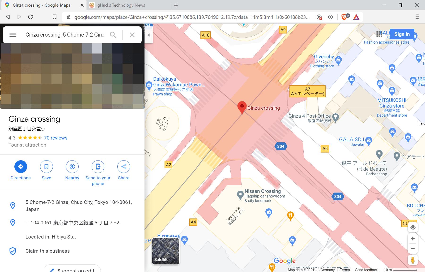 谷歌开始在地图中添加人行道、行人安全岛等更细致道路信息