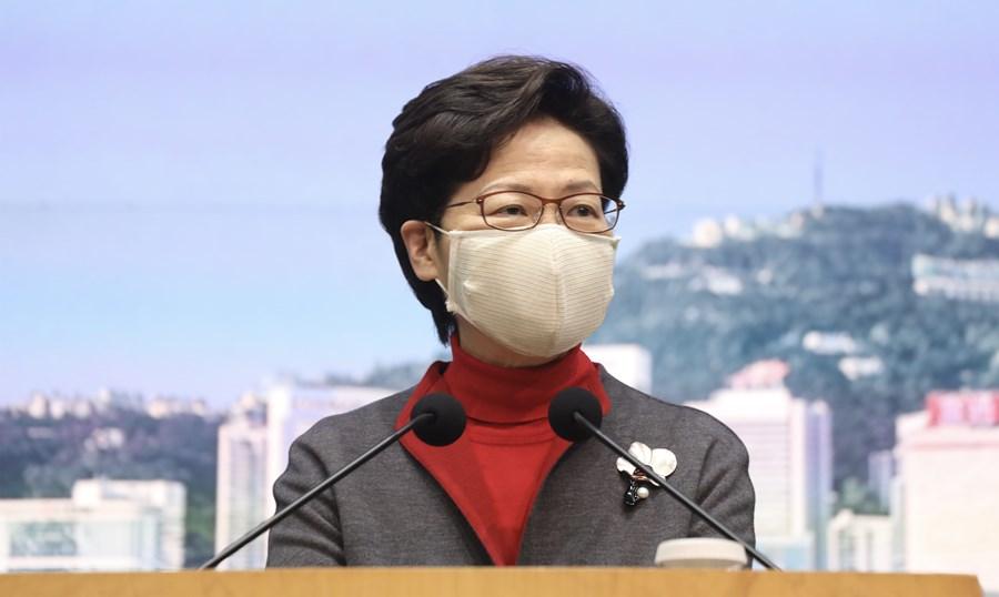 林郑月娥:未与终审法院首席法官谈黎智英案,勿过分解读双方会面图片