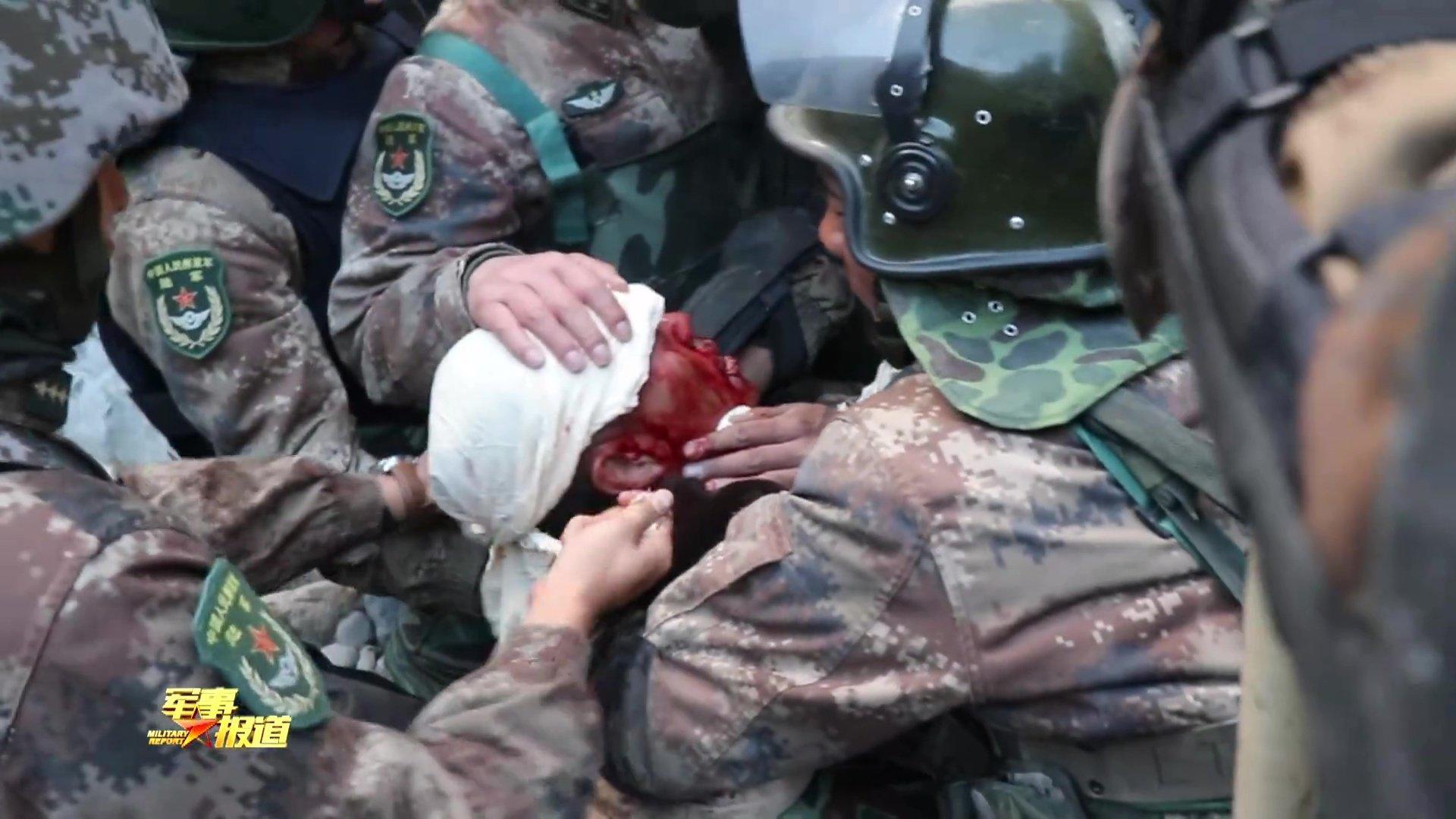 ▲在喀喇昆仑战斗中,四位解放军官兵壮烈捐躯,团长身负重伤。图据央视军事