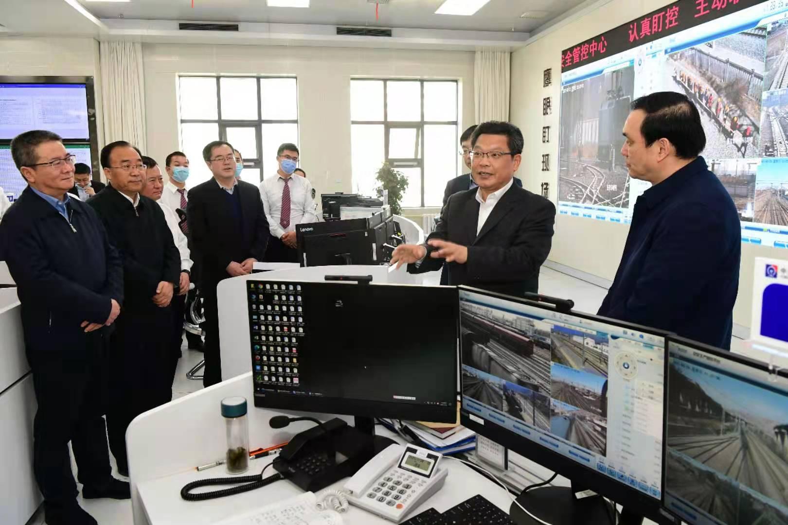 任振鹤在中国铁路兰州局集团调研图片