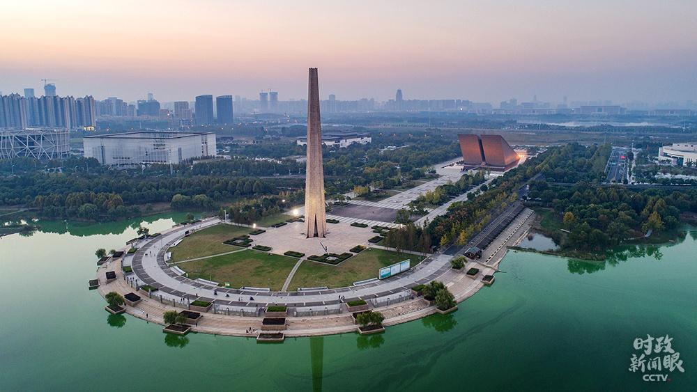 △渡江战争怀念馆,2020年8月,总书记曾到这里观察。