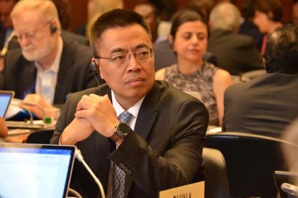 """前中国常驻世贸构造大使张向晨 图源""""商务微消息""""微信公号"""