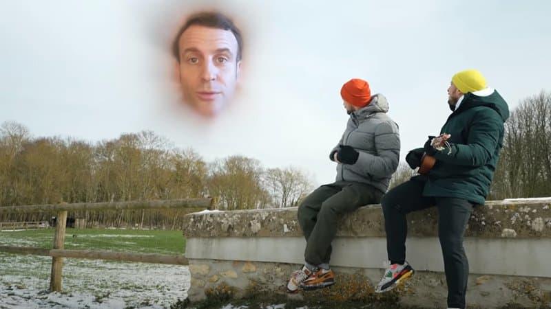 马克龙和法国网红打赌:点击过千万就一起拍视频