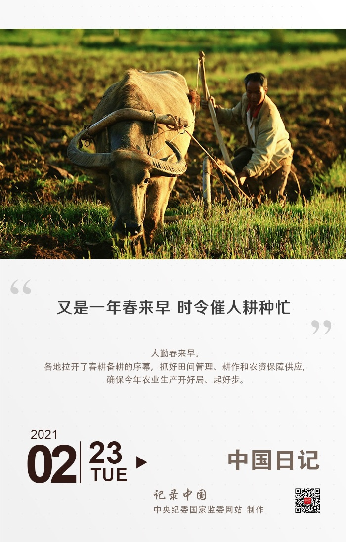 中国日记   又是一年春来早 时令催人耕种忙图片