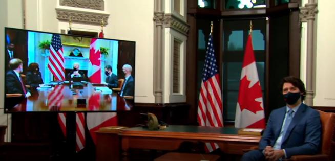 加美两国首脑会晤开始 预计持续两个小时
