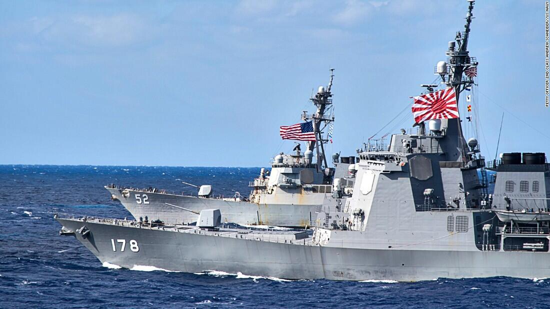 日本自卫队去年25次保卫美军舰机 护卫美舰收集情报