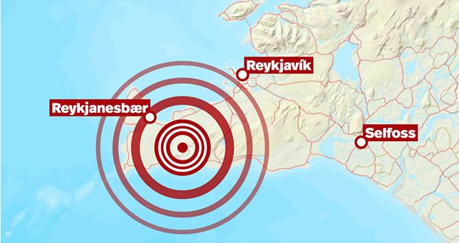 冰岛首都附近发生5.7级地震