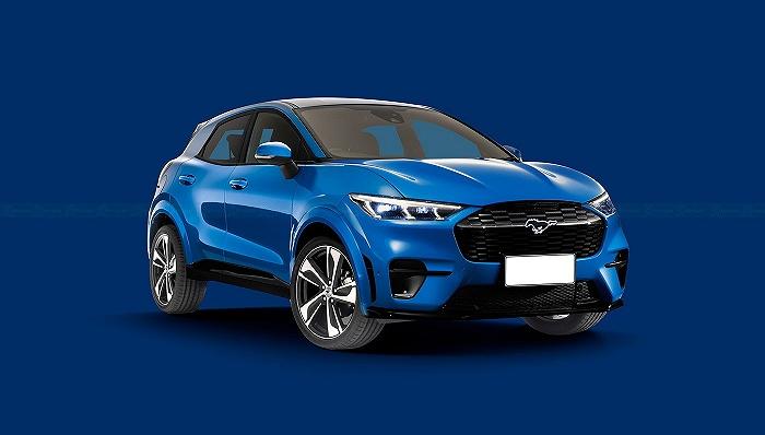 """""""小Mustang Mach-E""""渲染图释出,量产版或将基于大众汽车MEB平台打造"""