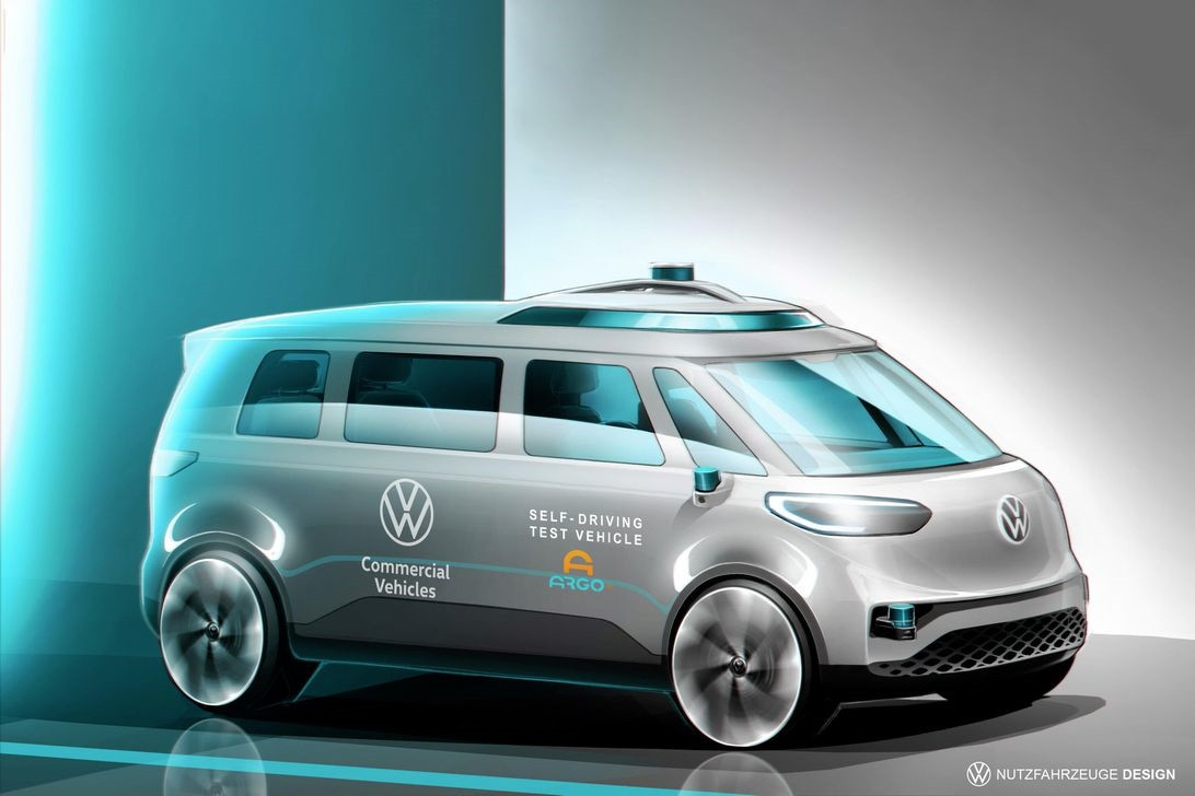 大众展示 ID Buzz 电动车最新渲染图:将支持自动驾驶