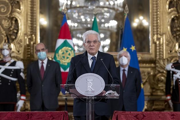 意大利总统马塔雷拉宣布将授权组建新政府