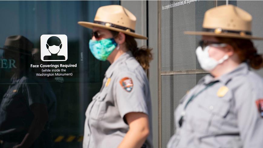 """美国国家公园管理局发布""""口罩强制令"""""""