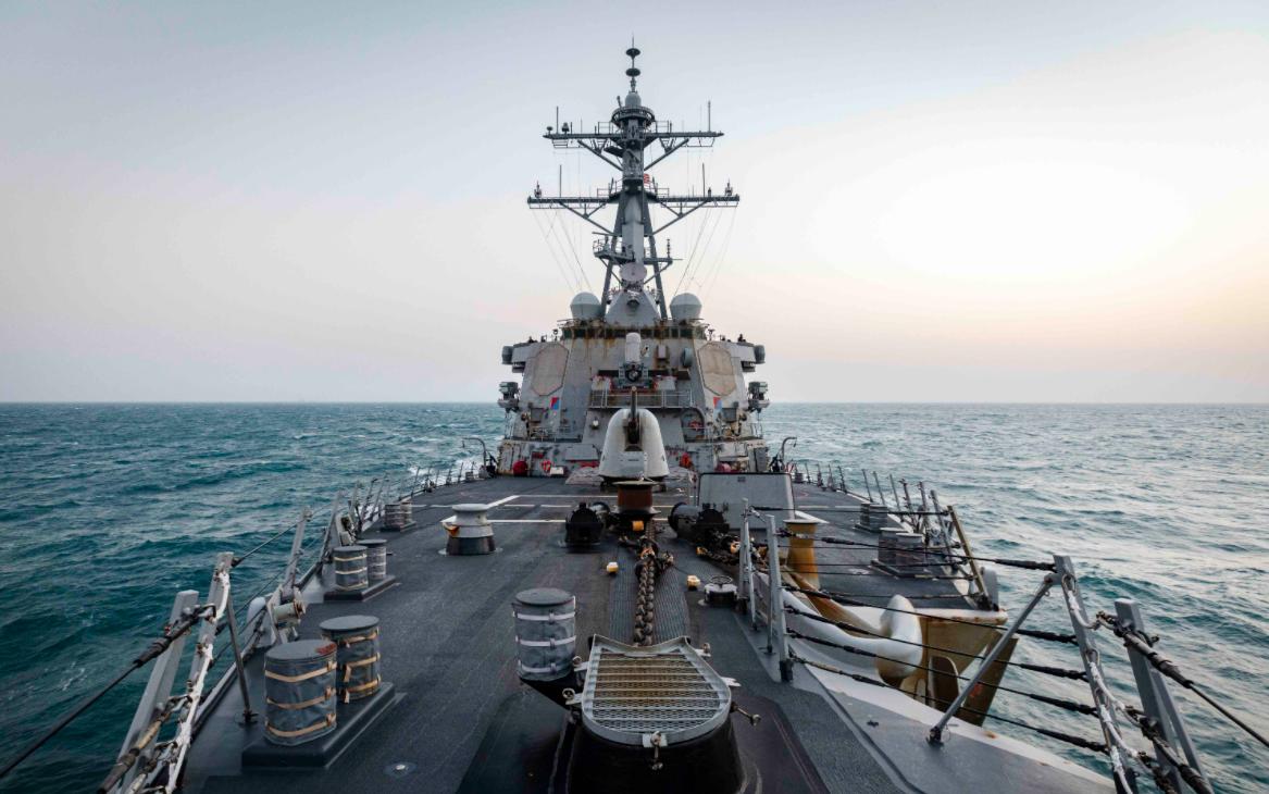今年第一艘!台军称一艘美国战舰今天航经台湾海峡图片
