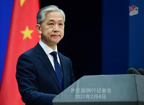 """日英外长防长""""2+2""""会谈对中国《海警法》表关切 外交部回应图片"""