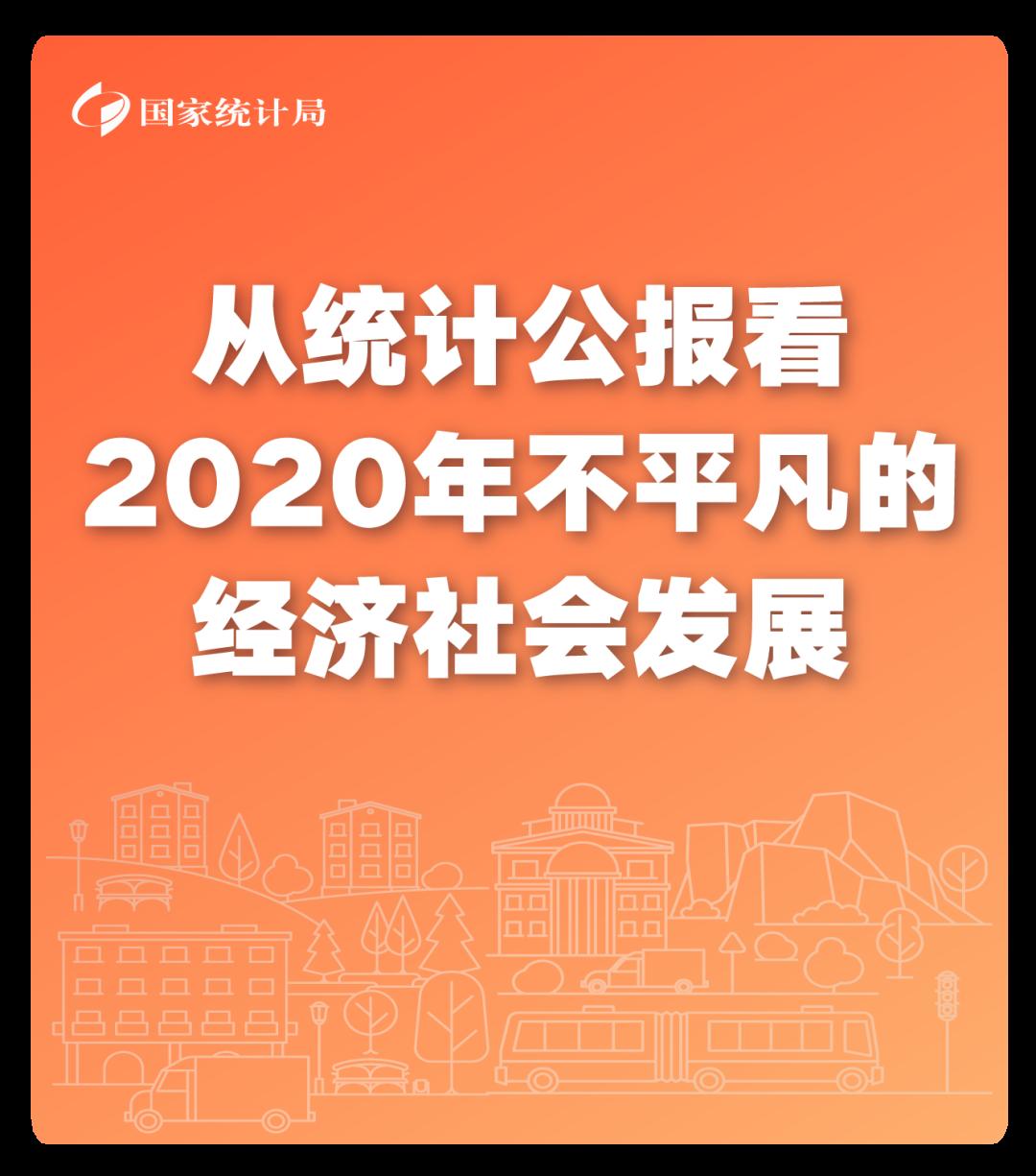 从统计公报看2020年不平凡的经济社会发展!图片