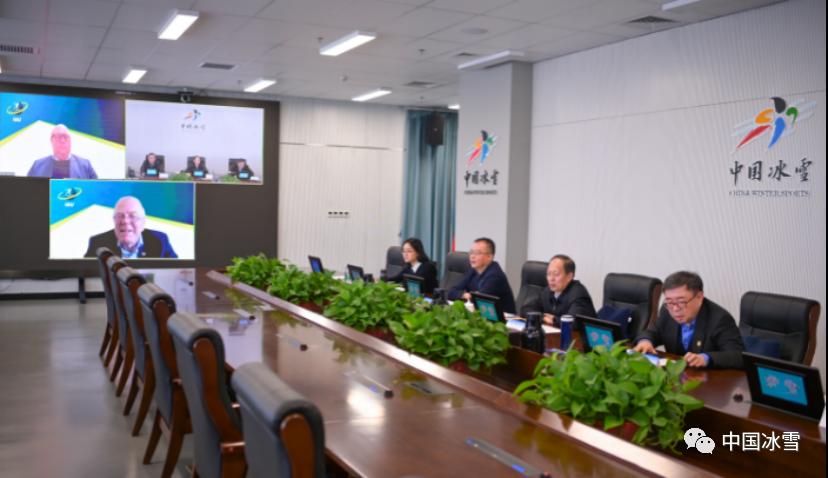 体育总局局长、中国奥委会主席苟仲文视频会见国际冬季两项联盟主席