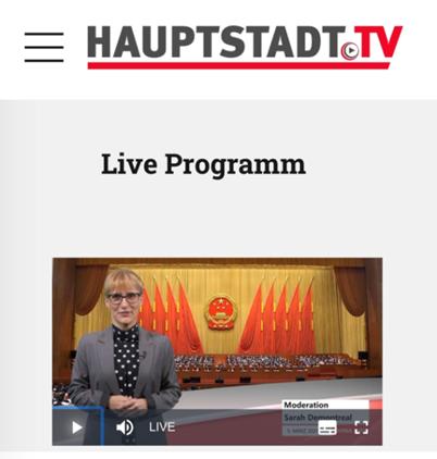 △德国首都电视台报道截图