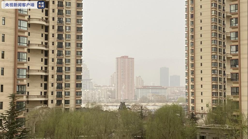 """兰州出现浮尘天气 空气质量达到""""严重污染""""级别图片"""