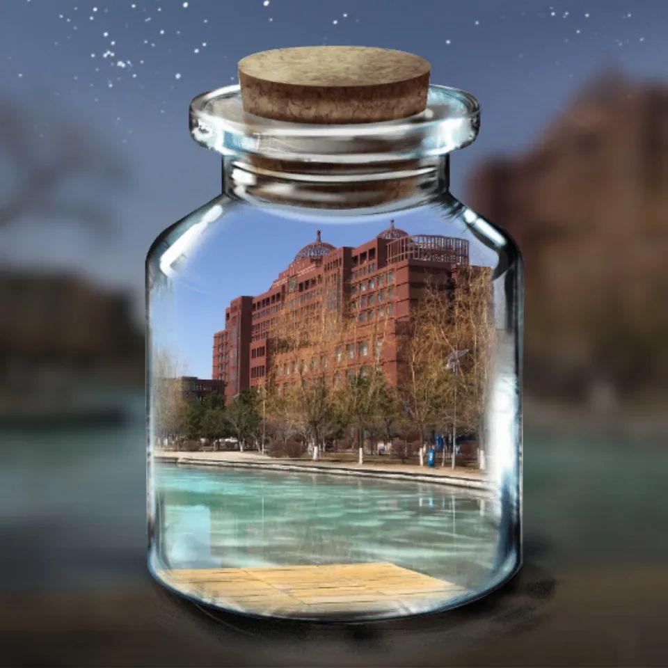 遇见|我将内大美景做成玻璃瓶送给你图片