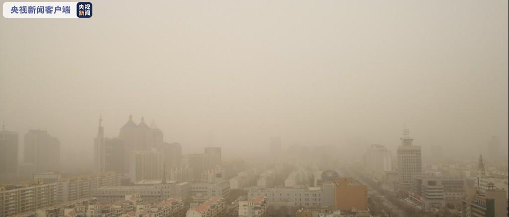 沙尘天气持续!宁夏连发20条大风蓝色预警信号图片