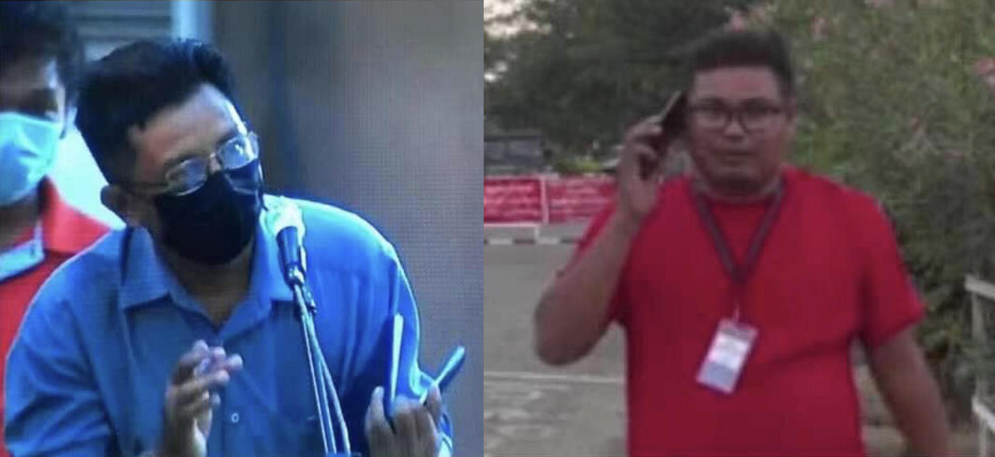 △BBC驻内比都记者昂杜拉(左)缅甸密兹玛通讯社前驻内比都记者丹泰将(右)