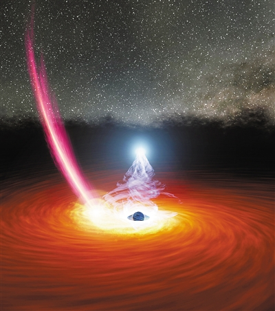 """慧眼卫星又有新发现 这个""""冕""""竟然能逃离黑洞引力场"""