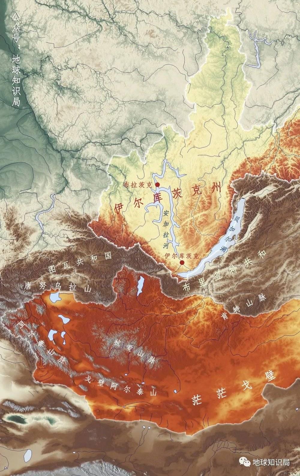 在蒙古国北部,从伊尔库茨克沿安加拉河再往北,就能到达布拉茨克
