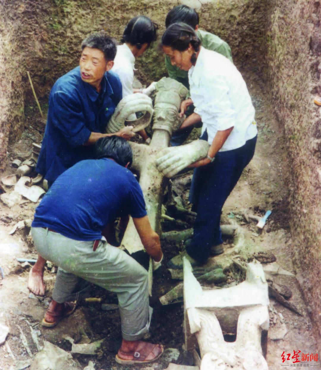三星堆遗址1986年发掘现场