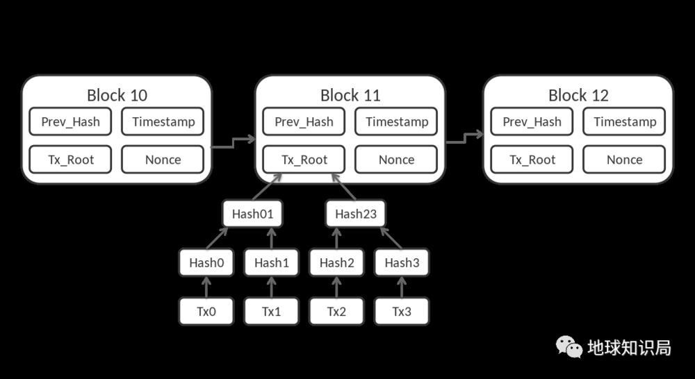 比特币区块链简易结构图(图:Wiki)