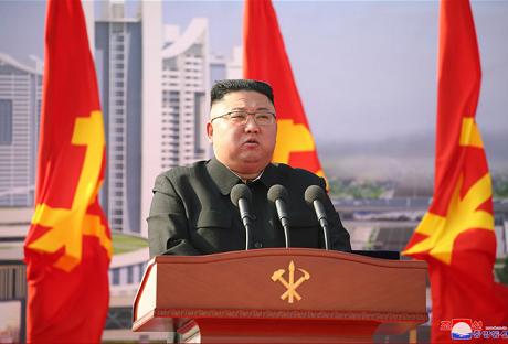 朝鲜平壤市1万套住宅建设工程奠基典礼举行