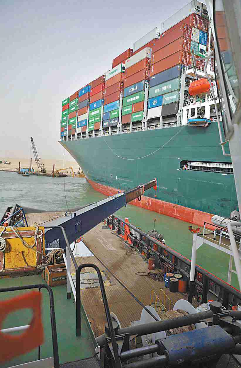 """""""塞船""""救援工作进展艰难 苏伊士运河堵塞对中国影响多大?"""