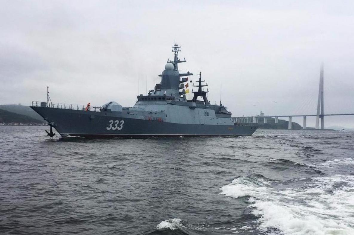 俄太平洋舰队在日本海举行实弹射击演习