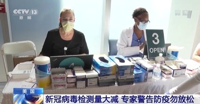 美国新冠病毒检测量大减 专家警告防疫勿放松