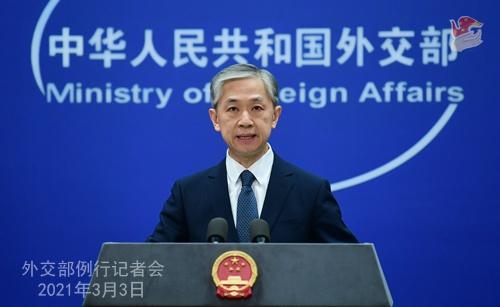 美国网络公司宣称中国政府资助黑客组织攻击印度电厂 汪文斌:停止无事生非